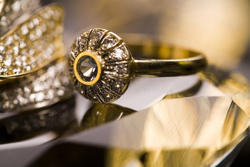 Anel de diamante imagem de stock royalty free