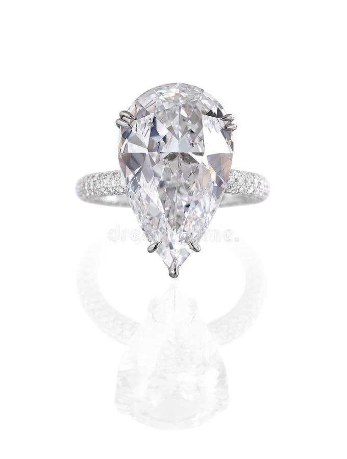 Anel de diamante grande. imagem de stock royalty free