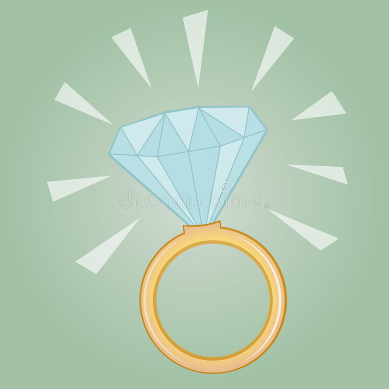 Anel de diamante precioso ilustração royalty free