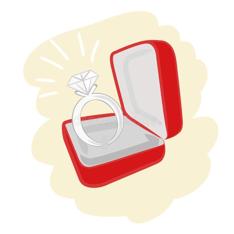 Anel de noivado ilustração royalty free