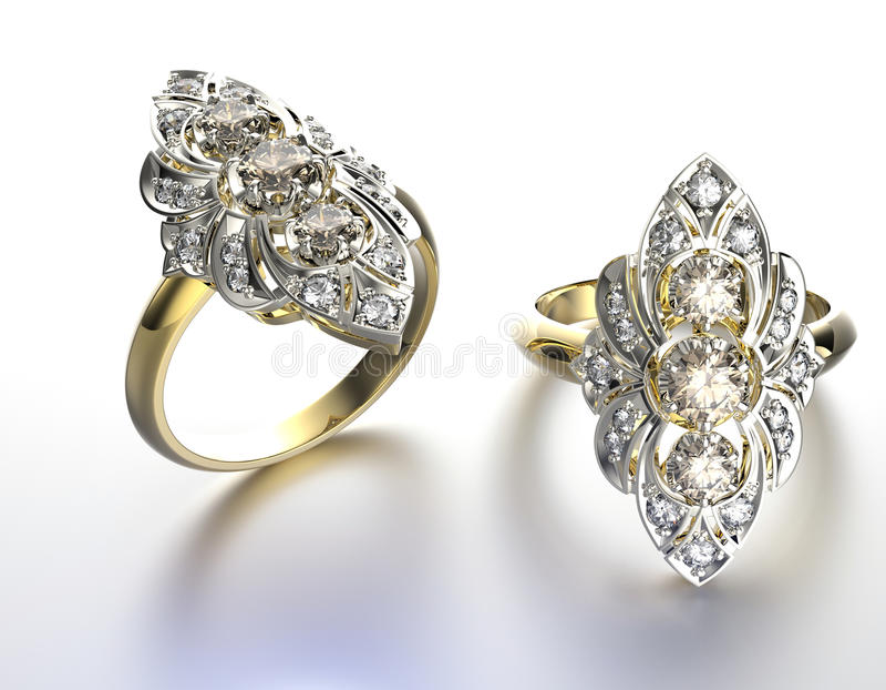 Anel de noivado com diamante ilustração do vetor