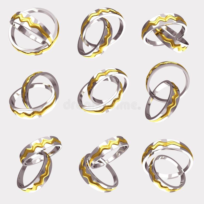 Anel de noivado do ouro ilustração stock