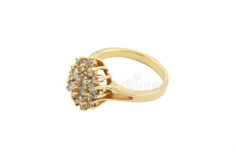 Anel de ouro de Jewelery imagens de stock royalty free
