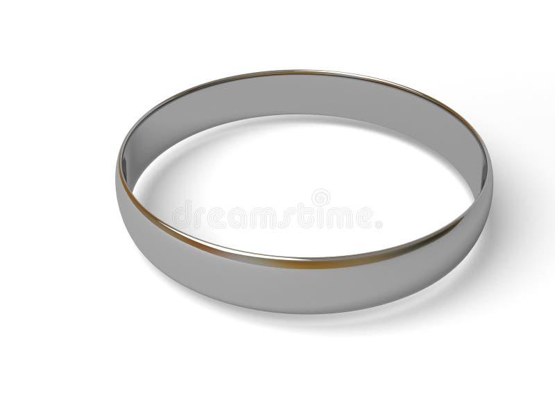 Anel de prata. fotografia de stock
