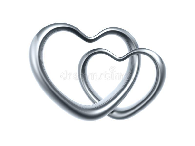 Anel do coração do amor ilustração royalty free
