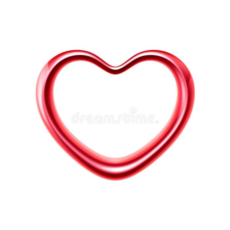 Anel do coração do amor ilustração stock