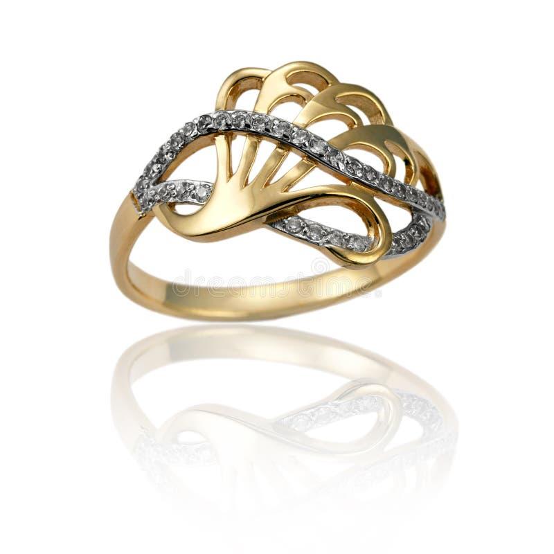 Anel dourado da jóia imagens de stock royalty free