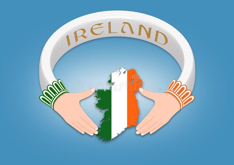 Anel irlandês ilustração do vetor