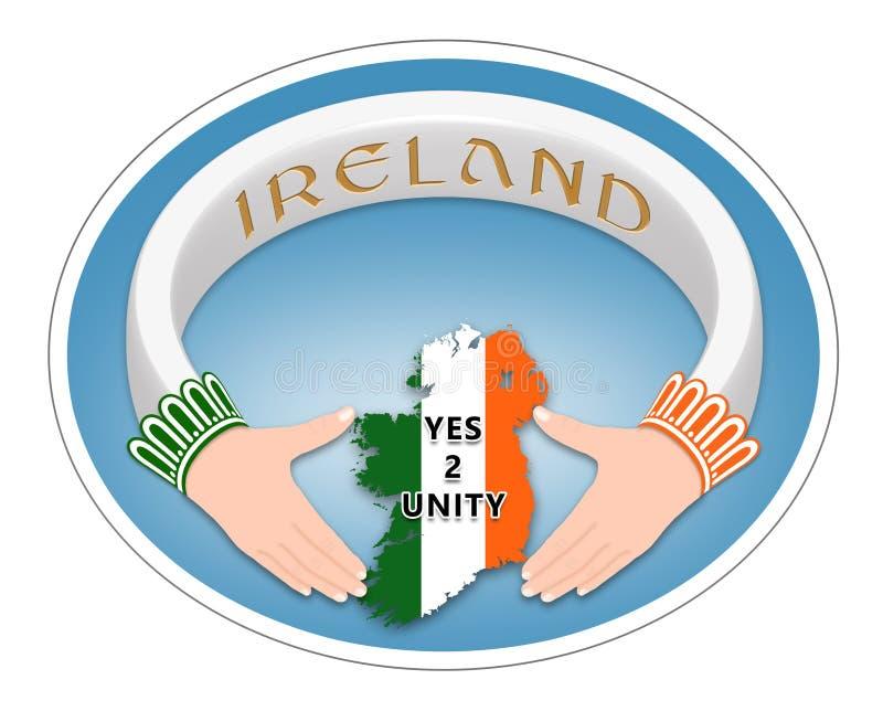 Anel irlandês ilustração stock