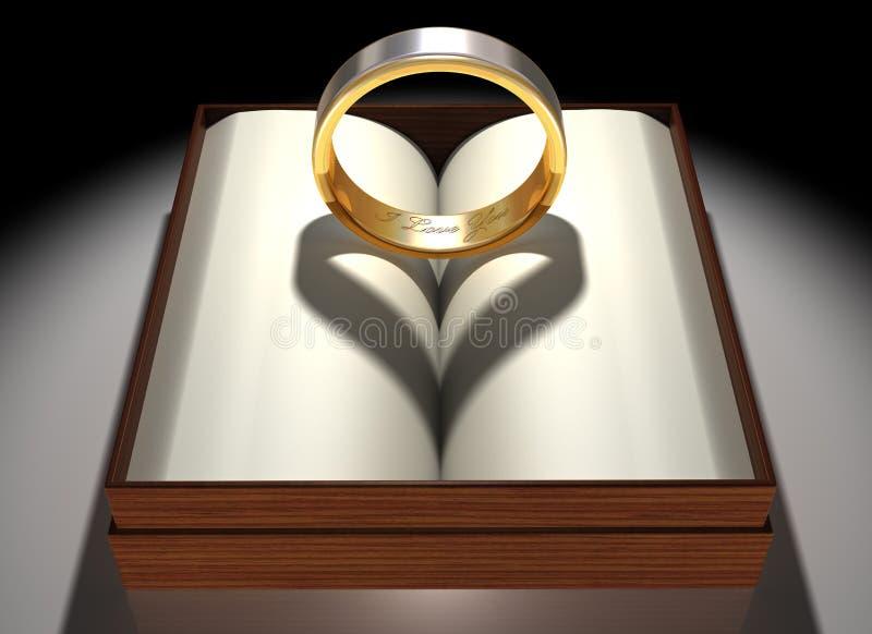 Anel Loving ilustração royalty free