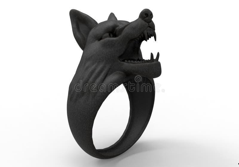 Anel principal do lobo ilustração stock