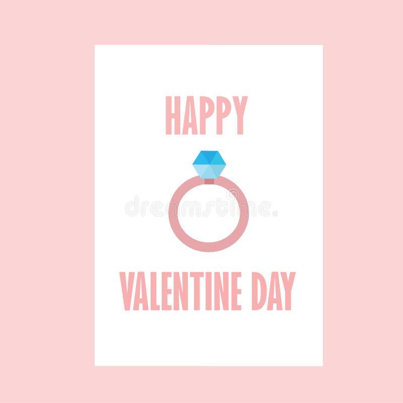 anel Valentine Day With Color Pink feliz ilustração royalty free