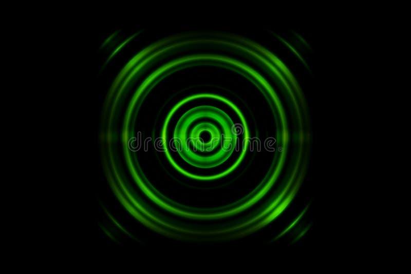 Anel verde abstrato com fundo de oscilação das ondas sadias ilustração royalty free