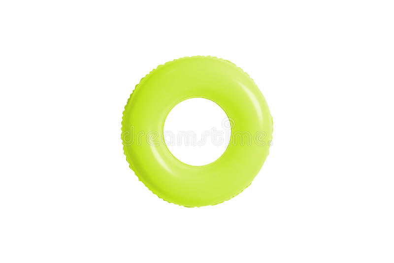Anel verde da piscina isolado no branco fotografia de stock royalty free