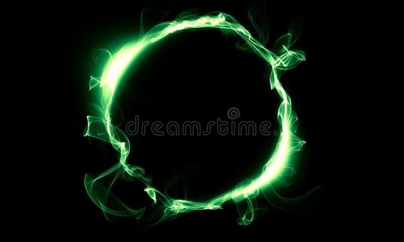 Anel verde que consiste em um fumo A coisa mágica fantasy imagem de stock