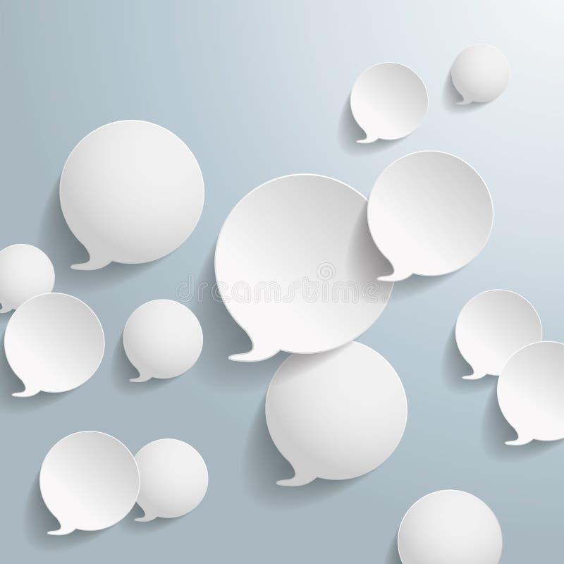 Anelli bianchi di goccia royalty illustrazione gratis
