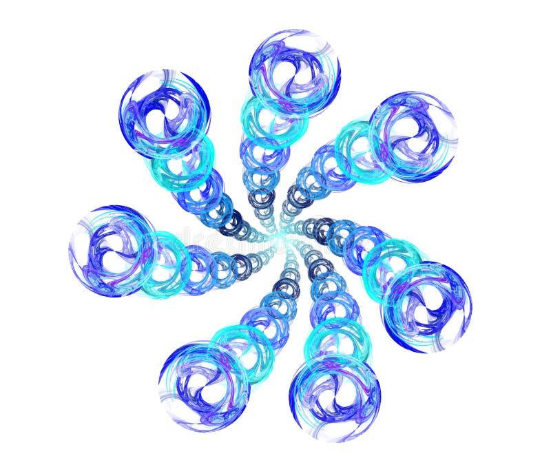 Anelli che formano spirale illustrazione di stock