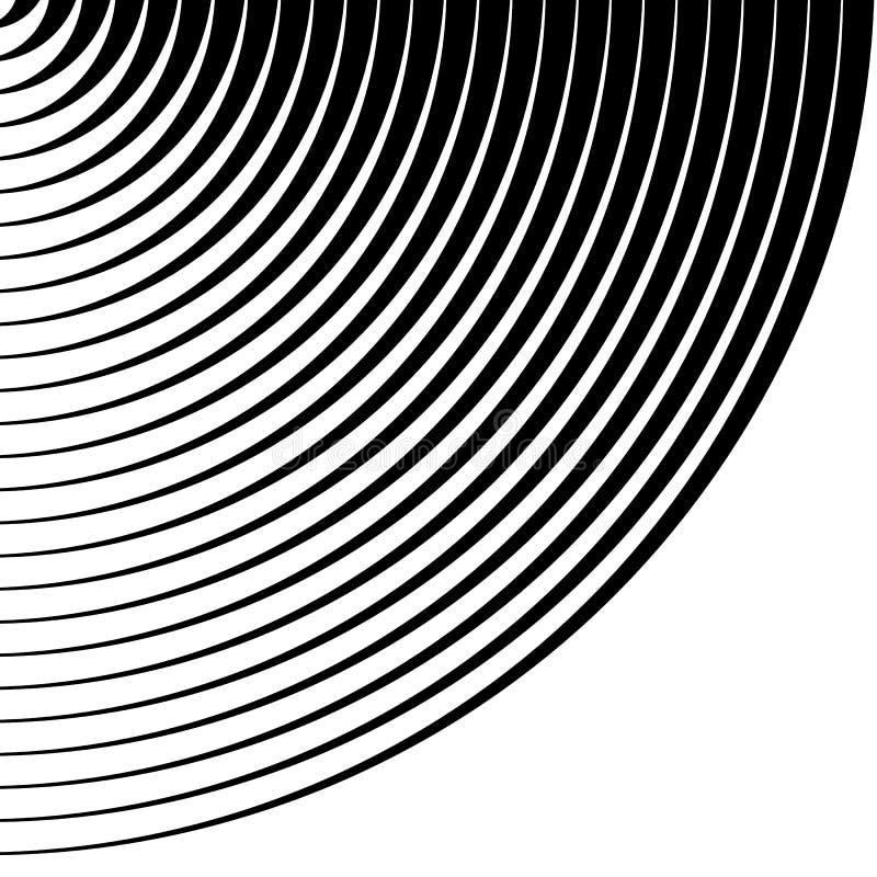 Anelli concentrici, modello dei cerchi Circonda il modello del fondo illustrazione di stock