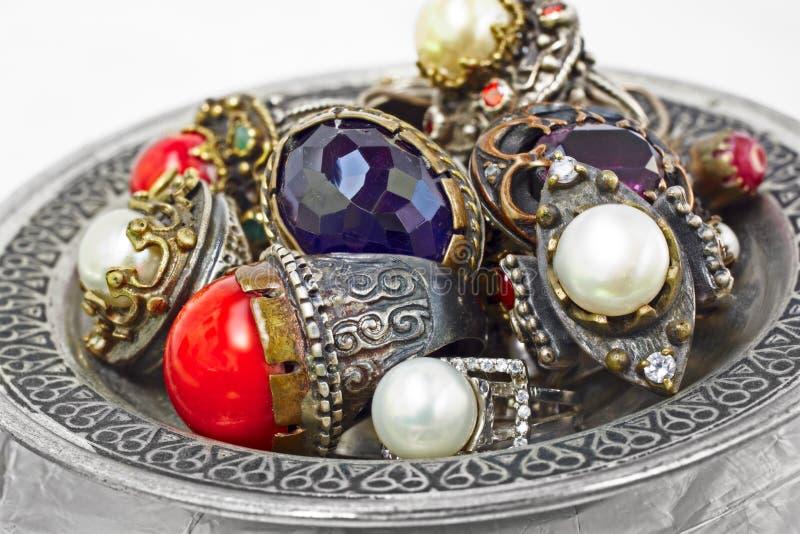 Anelli d'argento turchi fotografie stock