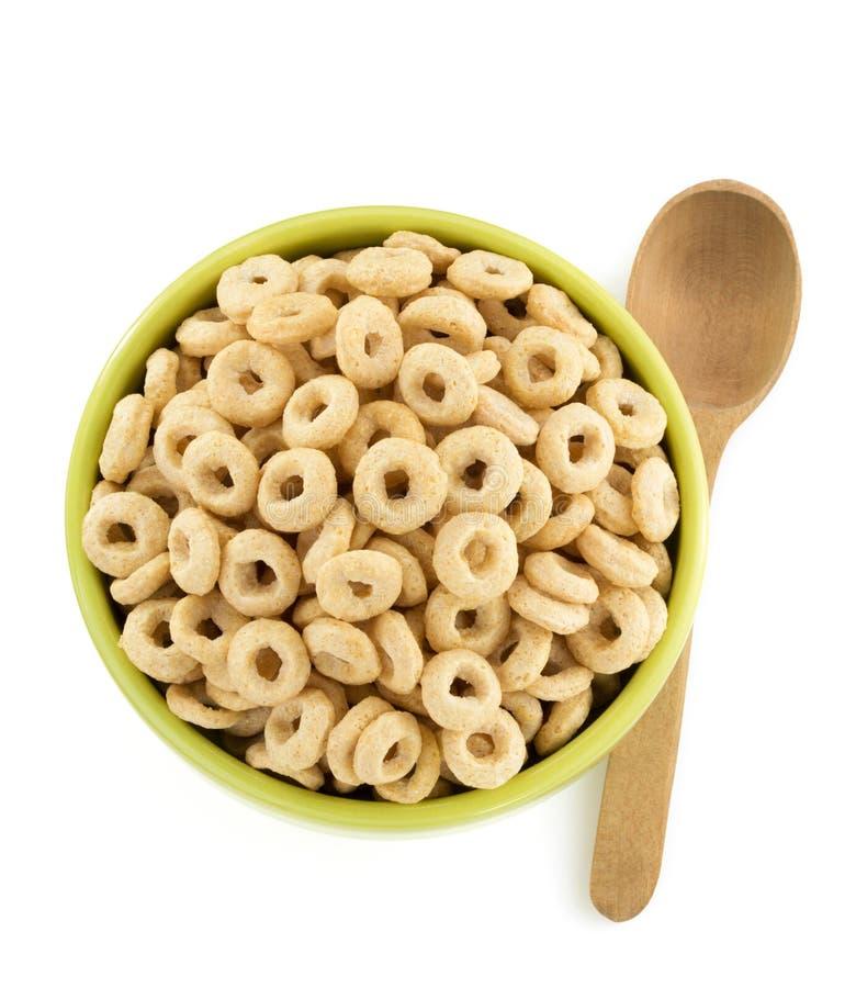 Anelli dei fiocchi di mais in ciotola immagine stock libera da diritti