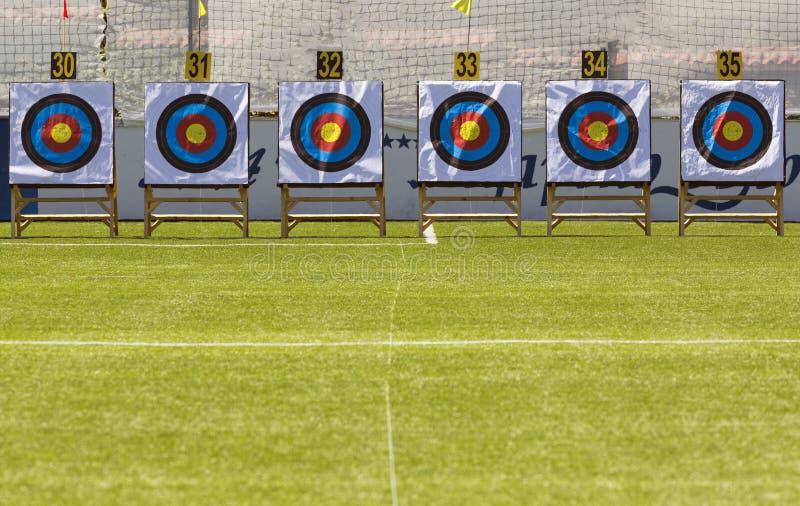 Anelli dell'obiettivo di tiro con l'arco fotografie stock