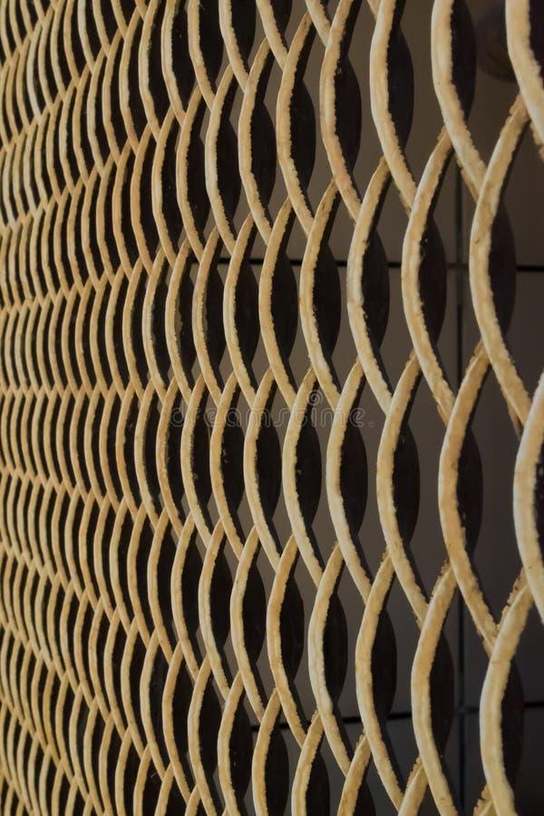 Anelli della griglia del metallo di struttura fotografia stock