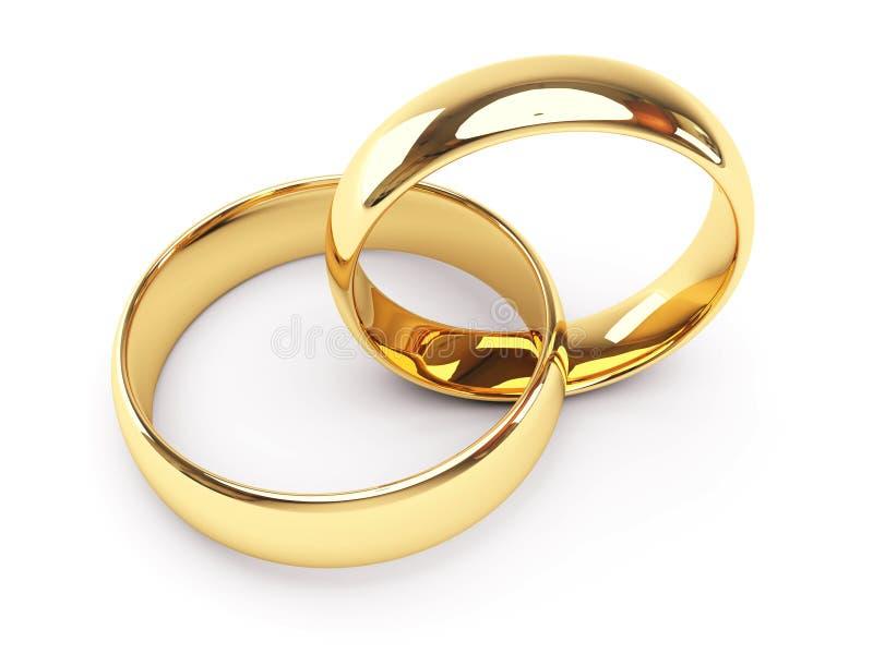Anelli di cerimonia nuziale dell'oro royalty illustrazione gratis