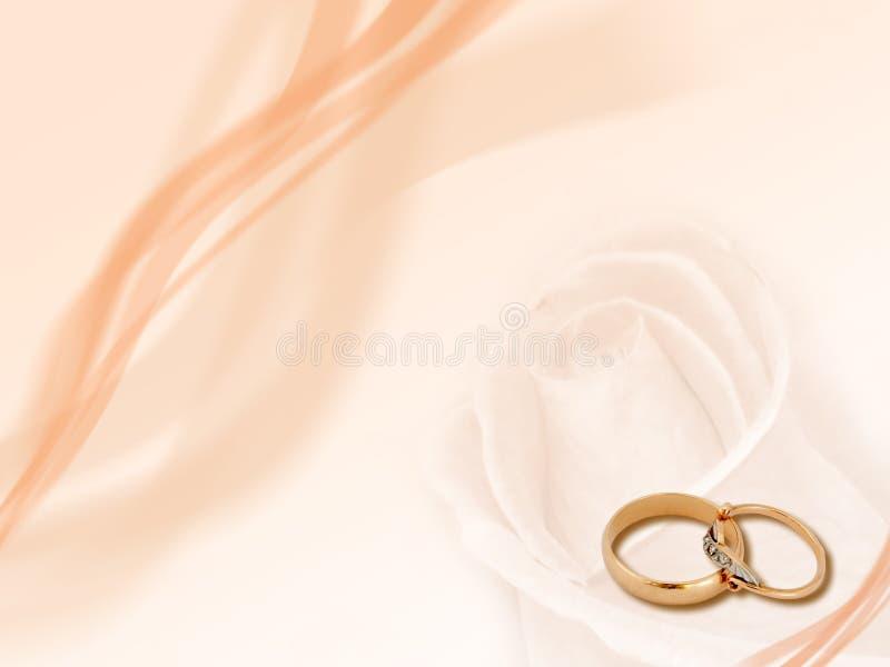 Anelli di cerimonia nuziale, priorità bassa royalty illustrazione gratis