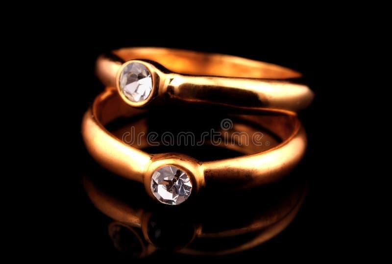 Anelli di diamante immagini stock