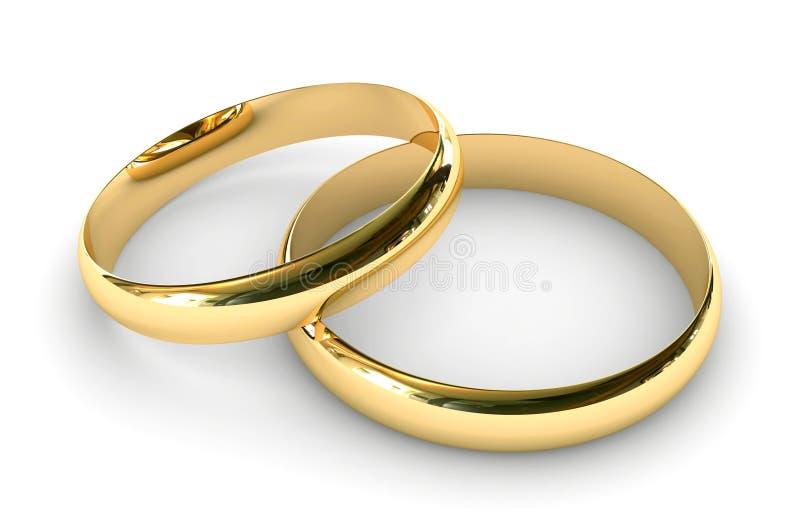 Anelli di fidanzamento illustrazione vettoriale