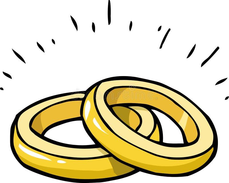 Anelli di matrimonio di scarabocchio illustrazione vettoriale