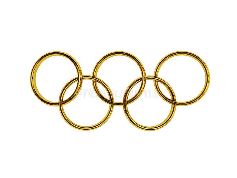 Anelli olimpici immagine stock