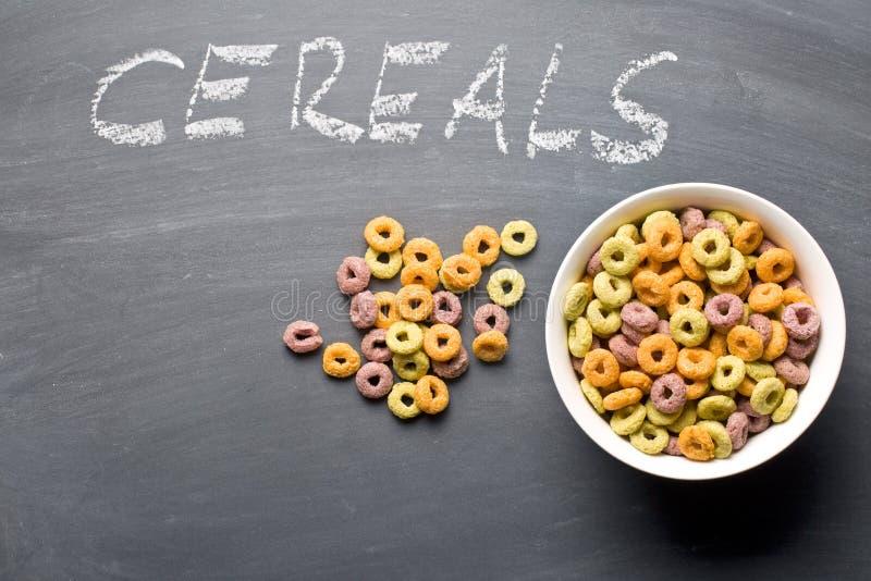 Anelli variopinti del cereale immagini stock libere da diritti