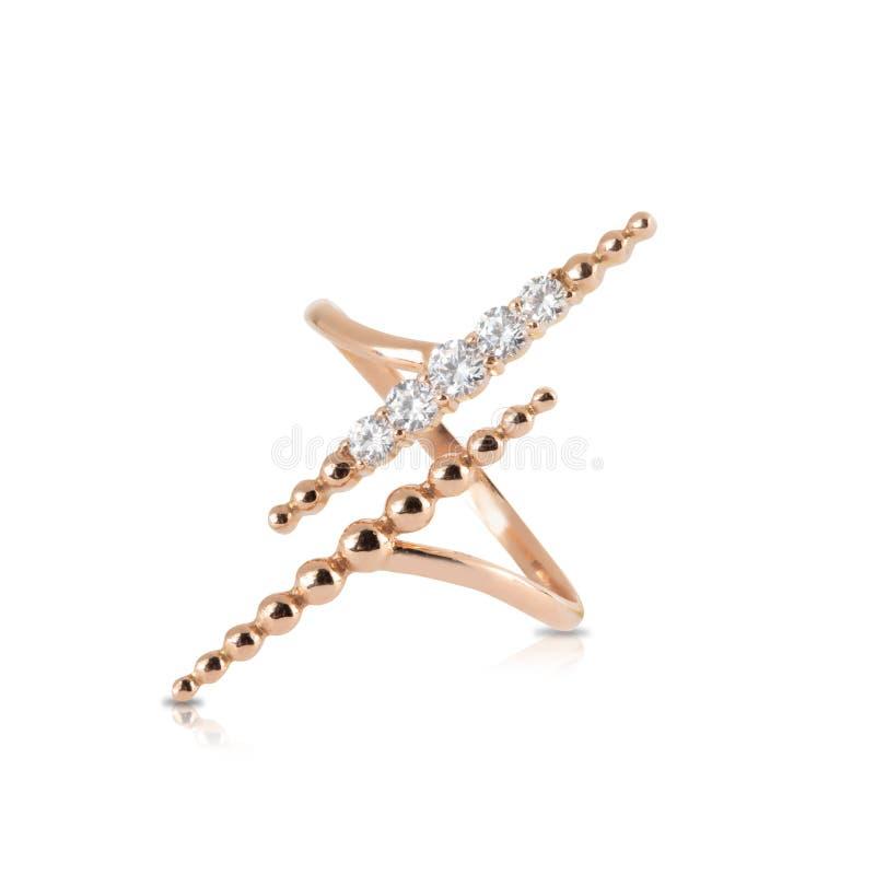 Anello con il diamante fotografia stock libera da diritti