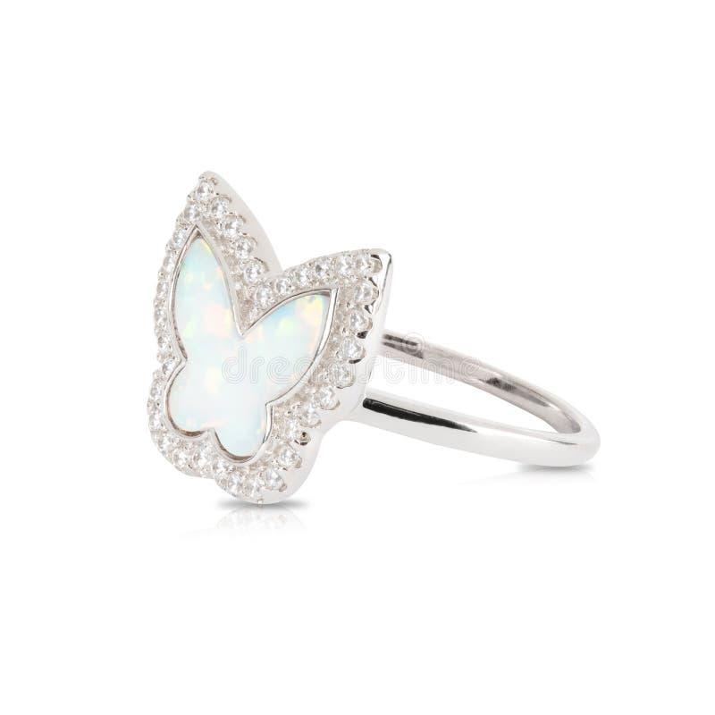 Anello con il diamante fotografia stock