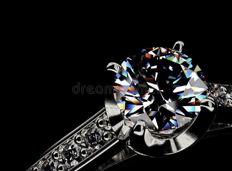 Download Anello Con Il Diamante Priorità Bassa Nera Dei Monili Del Tessuto Dell'argento E Dell'oro Fotografia Stock - Immagine di disegno, monili: 55350402