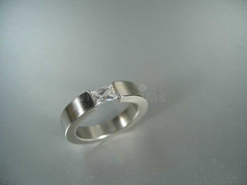Anello d'argento fotografia stock libera da diritti