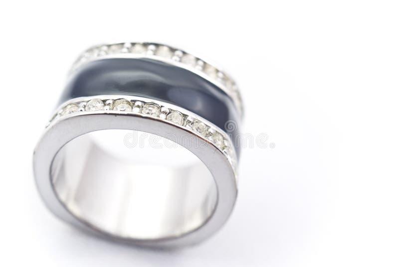 Anello d'argento fotografie stock libere da diritti