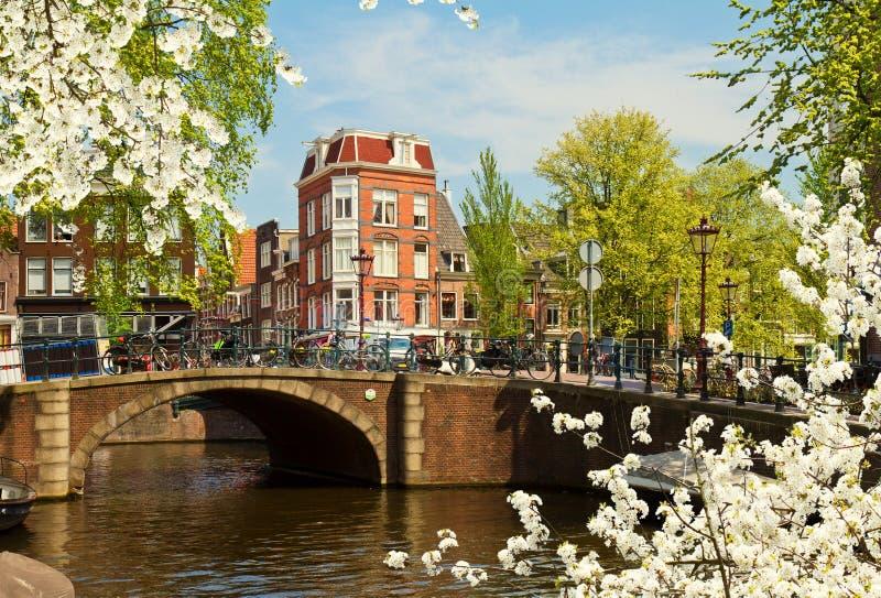 Anello del canale a Amsterdam, Netherland fotografia stock