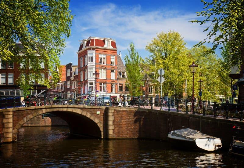 Anello del canale a Amsterdam, Netherland fotografie stock