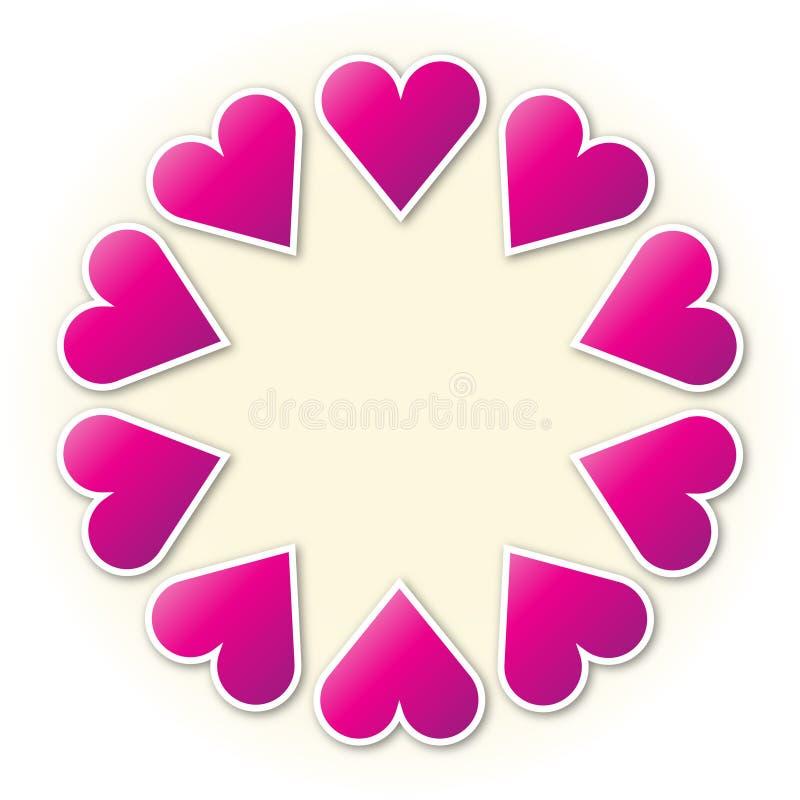 Anello del cuore illustrazione di stock