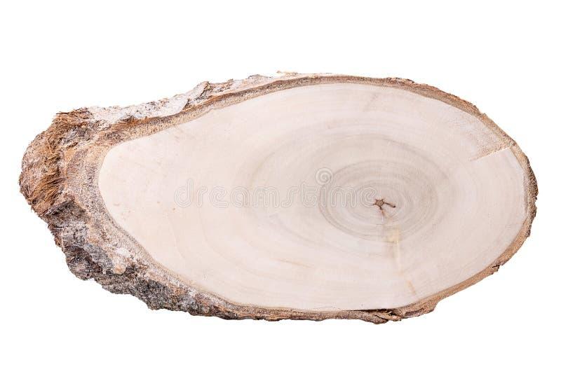 Anello del fondo del taglio di legno immagini stock