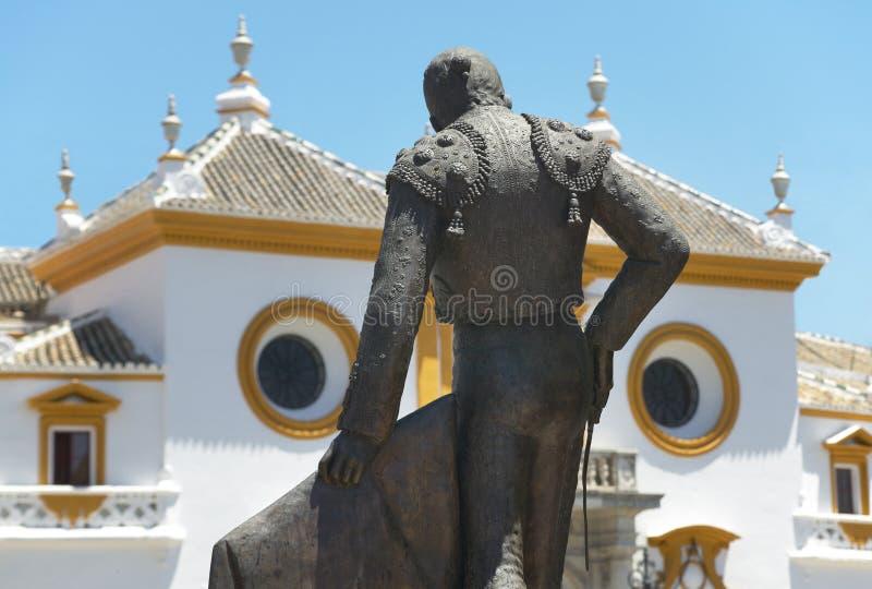 Anello del toro di Maestranza della La in Siviglia Andalusia spain fotografie stock