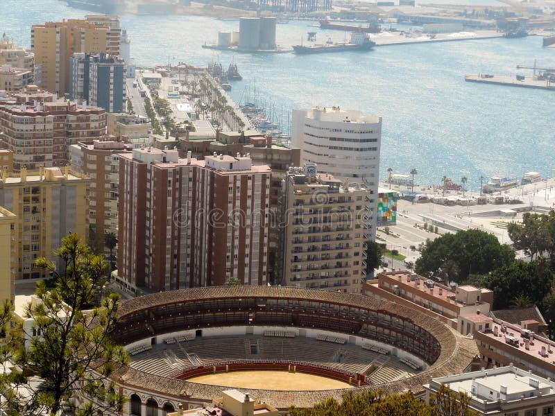 Anello della tauromachia di Malaga fotografia stock libera da diritti