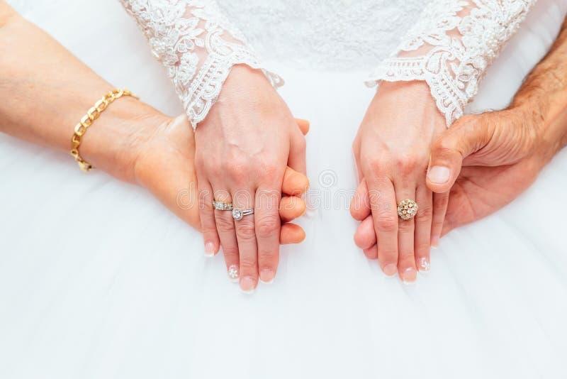 Super Anello Delle Mani Della Sposa E Del Vestito Da Sposa Fotografia  QG95