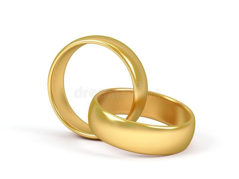 Anello di cerimonia nuziale due. royalty illustrazione gratis