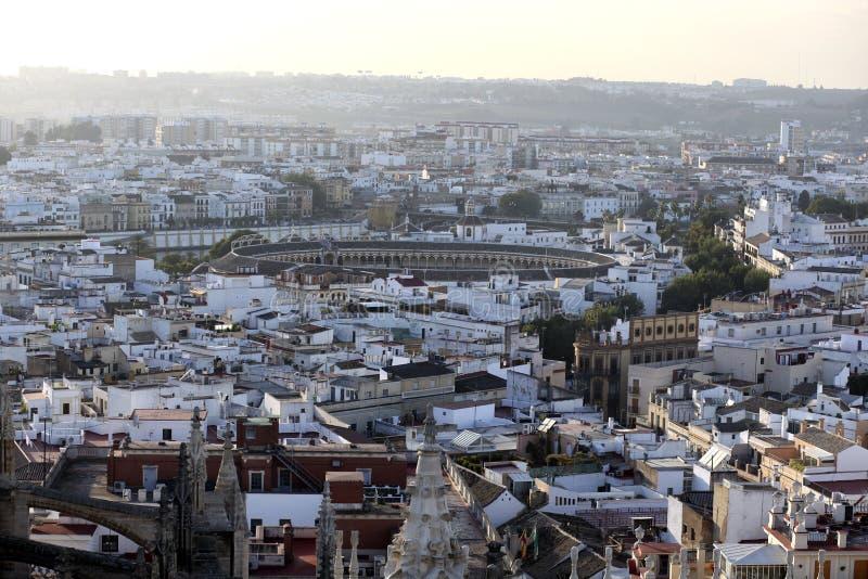Anello di combattimento di toro, Siviglia, Spagna immagine stock libera da diritti