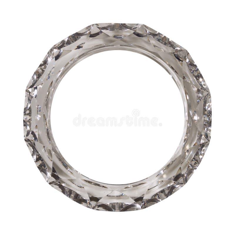 Anello di cristallo fotografia stock libera da diritti