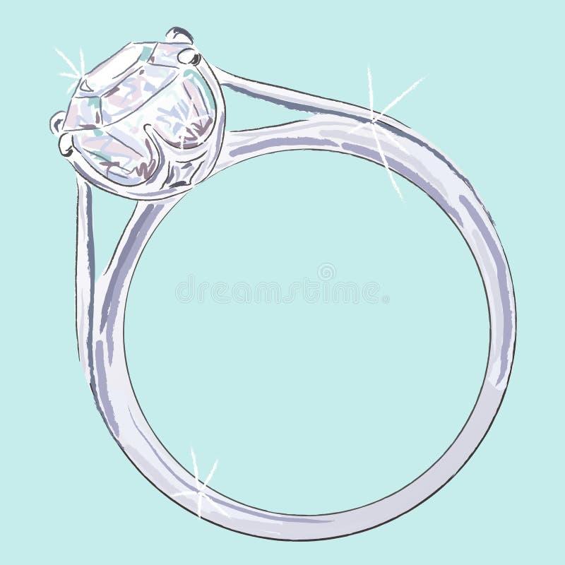 Anello di diamante illustrazione di stock