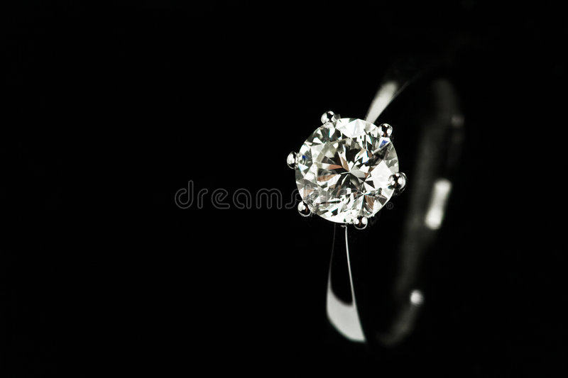 Anello di diamante immagine stock